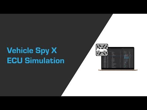 Vehicle Spy X ECU Simulation