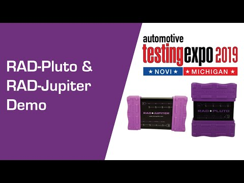 RAD-Pluto and RAD-Jupiter Demo at Testing Expo Novi 2019