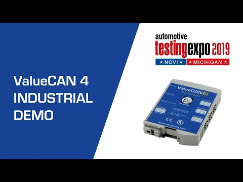 Independently Isolated CAN FD and LIN, ValueCAN 4 Industrial at Testing Expo Novi 2019