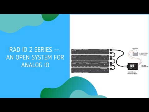 Analog I/O with Intrepid's RAD IO 2 Series — An Open System for Analog IO