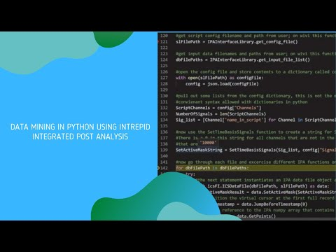 Data Mining in Python Using Intrepid Control Systems Integrated Post Analysis