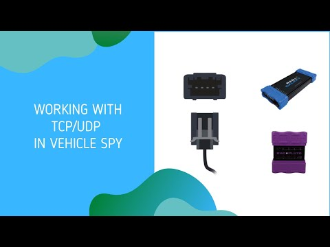 Ethernet Connections in Vehicle Spy - Working with UDP and TCP Client/Server connections