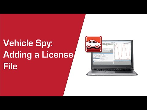 Adding a License File to Vehicle Spy 3